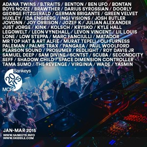 Sankeys - Jan - March 2015 artist flyer