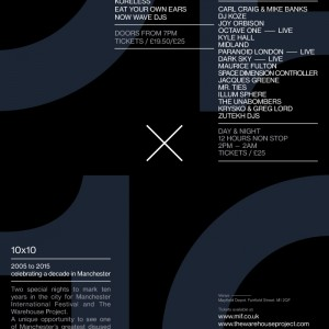 10 x 10 lineup The Warehouse Project