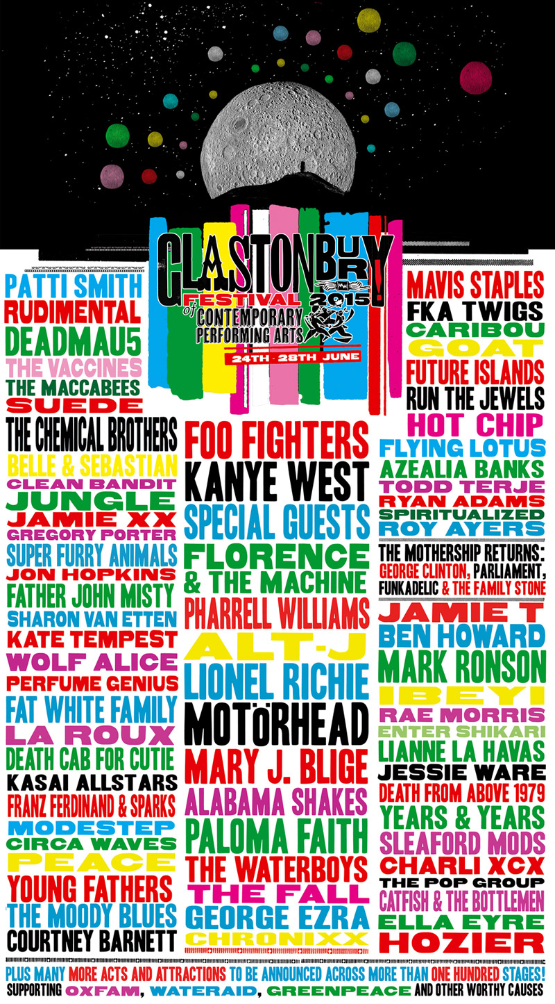 Glastonbury Line up 2015