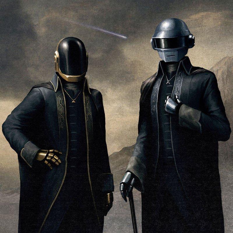Daft Punk starboy portrait poster