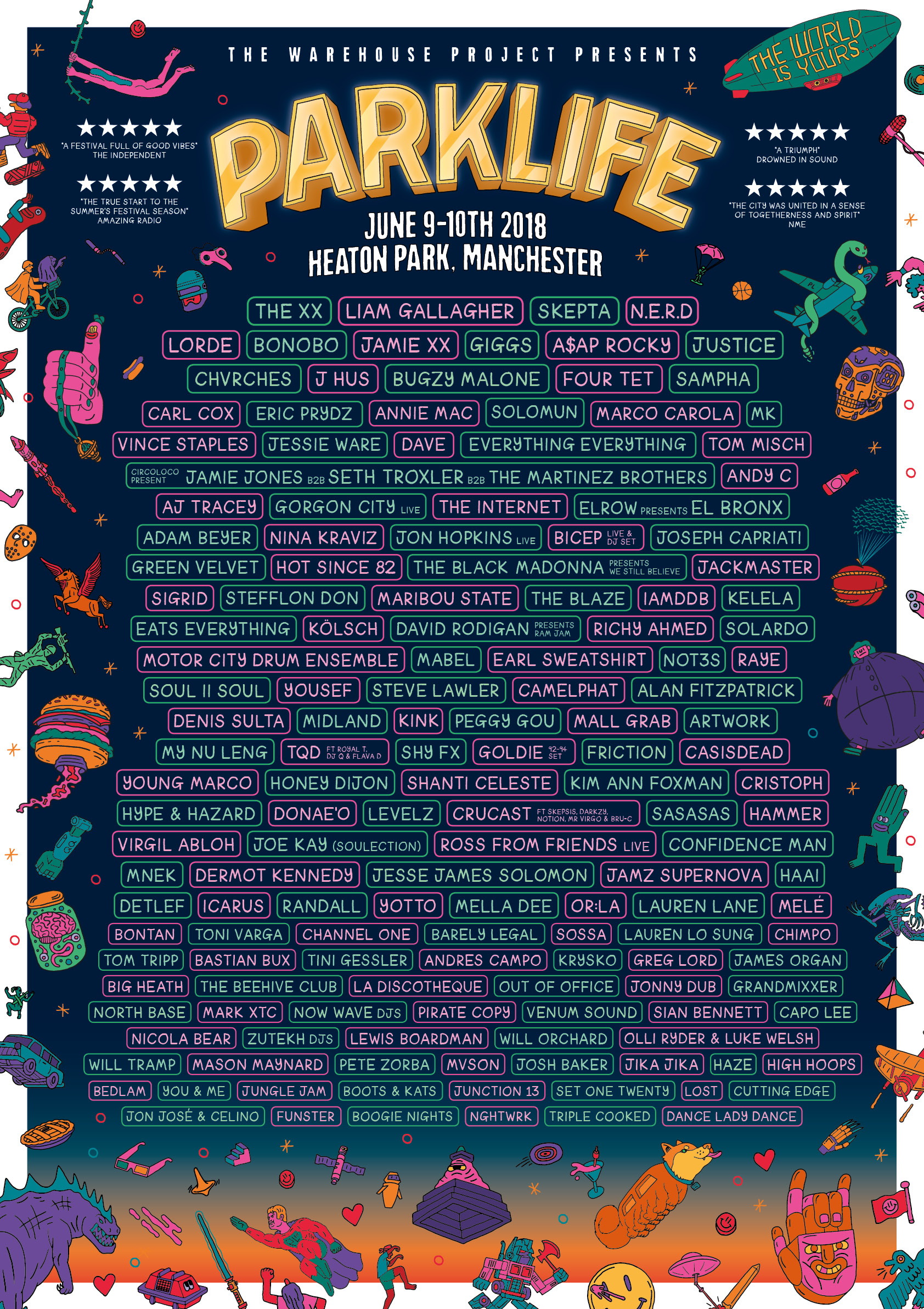 Parklife 2018 line up