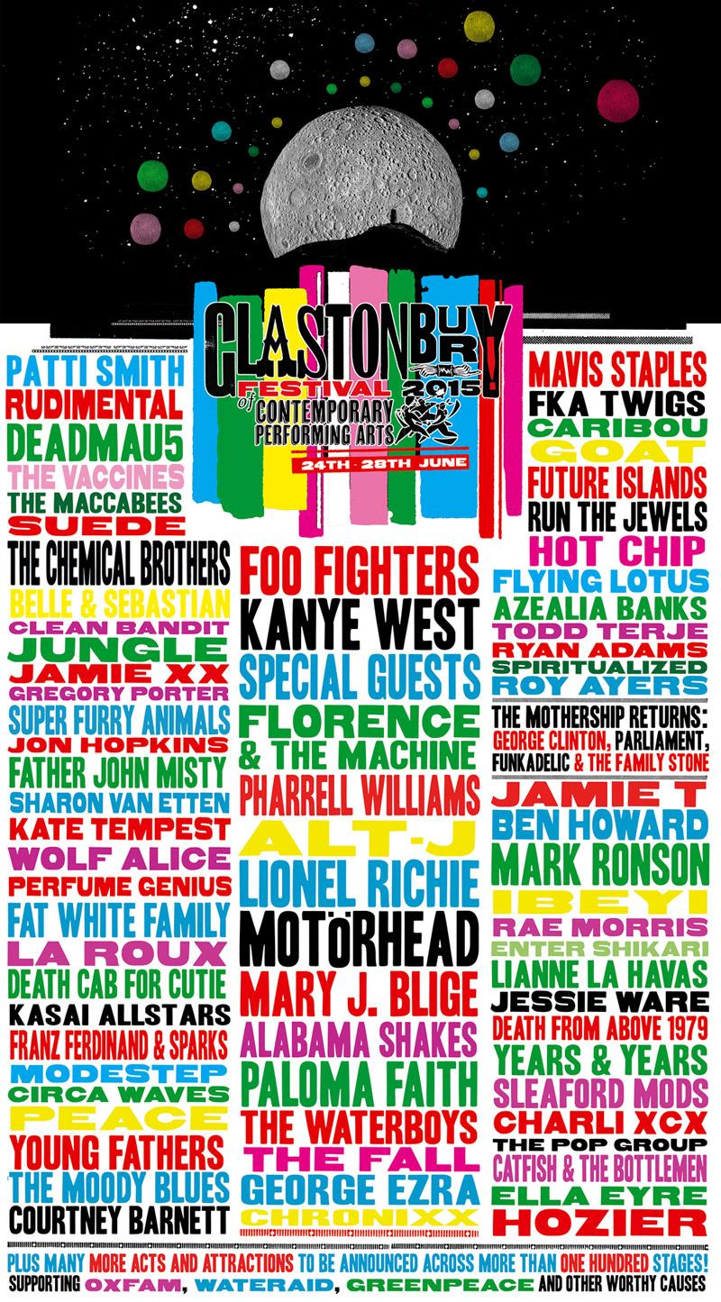 Glastonbury Line up 2015